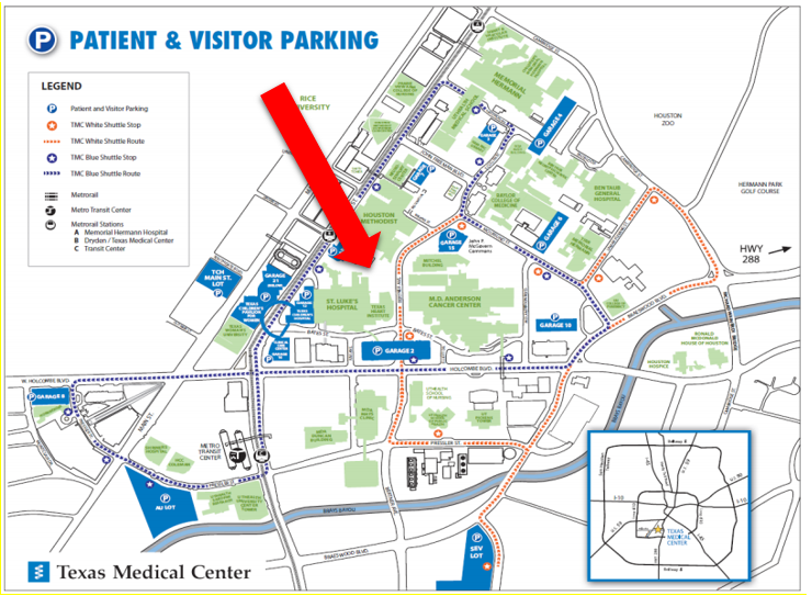 Map Of Texas Medical Center.Pmi Houston Meeting Event Information